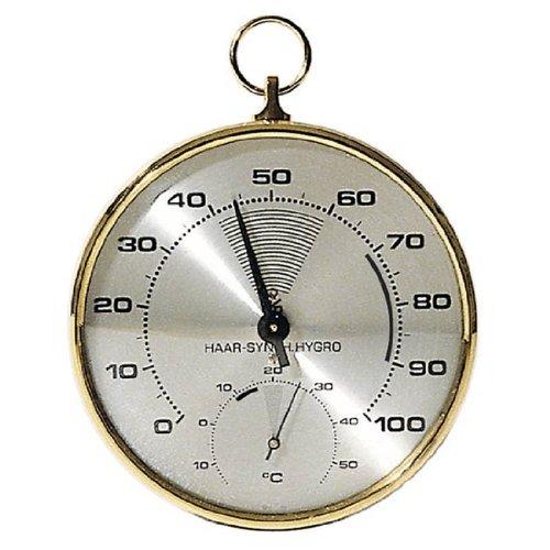 TFA Dostmann Analoges Thermo-Hygrometer, mit Messingring, Tempeartur, Luftfeuchtigkeit, gesundes Raumklima