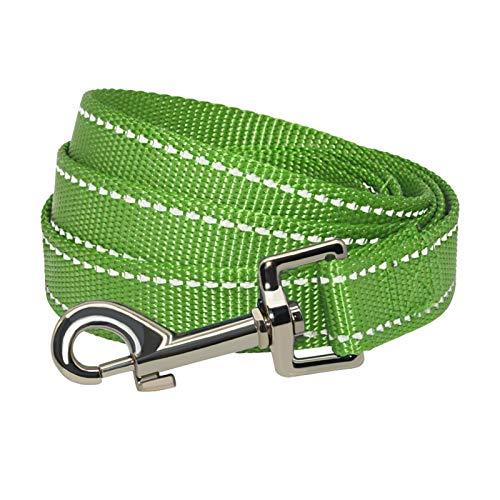 Correa reflectante de nailon para perros pequeños, medianos y grandes, para correr, caminar, entrenamiento seguro para mascotas, perro, cuerda de arnés para cuello, 1,5 cm x 150 cm