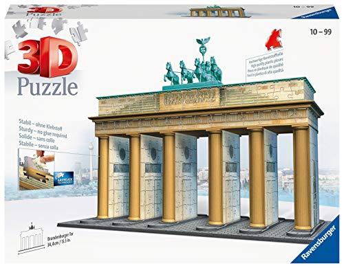 Ravensburger 3D Puzzle 12552 - Brandenburger Tor - Berlins Wahrzeichen im Miniatur-Format, 3D Puzzle für Erwachsene und Kinder ab 10 Jahren