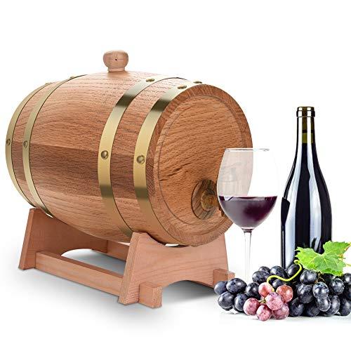 3L Eiken Vat, Eiken Vat Wijn, Vintage Wijn Dispenser voor Wijn met Alcohol Opslag, voor Whisky Tequila Rum Bier Wijn