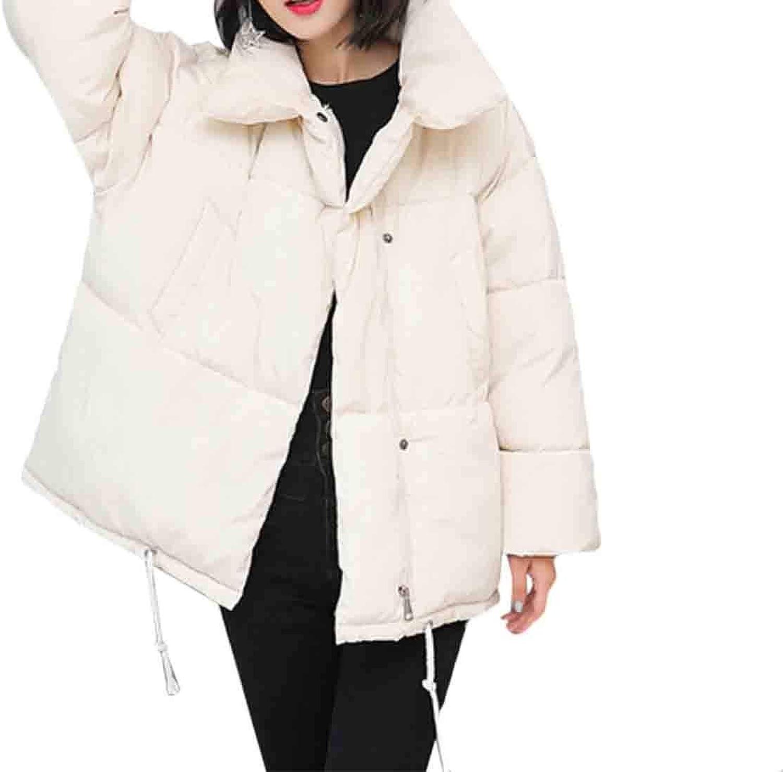 Maweisong Women's Winter Down Jacket Puffer Stand Collar Jacket Outerwear