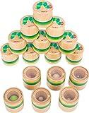 small foot 11433 Hör-Memo 'Raupe Nimmersatt' aus Holz, Sinnesspiel mit gefüllten Holzdosen, 16-teilig, ab 3 Jahren