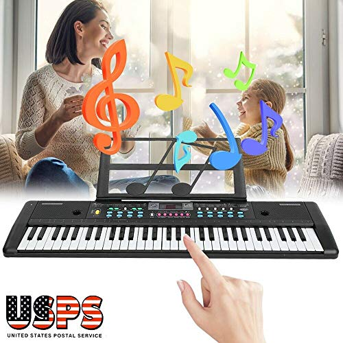 New 61 Key Music Digital Electronic Keyboard Electric Piano Organ with Music Stand - YF56812