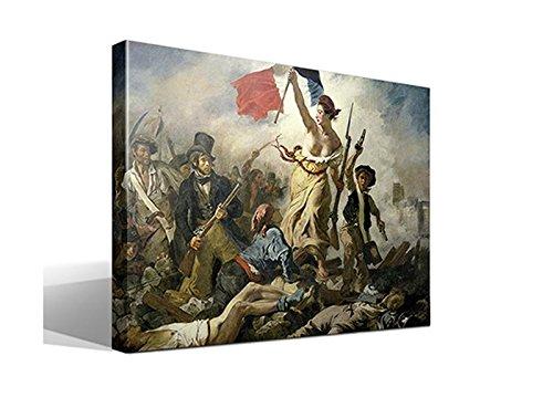 Cuadro Canvas La Libertad guiando al Pueblo de Delacroix 75x55cm