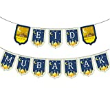 Bonbela Eid Mubarak Banner Dekoration Ramadan-Partei-Dekoration Flaggen-Fahnen-Ballon-Dekor