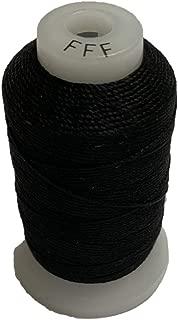 CREATA Black Silk Spool/Silk Cord/Beading Cord/Size FFF / 92yds / /100% Silk Thread/Jewelry Making/Tassel-Making/Embroidery-Making