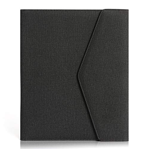 Business Portfolio Folder, Executive padfolio Holder Multifunctional for Conference, Interview and Presentation (Dark Gray)