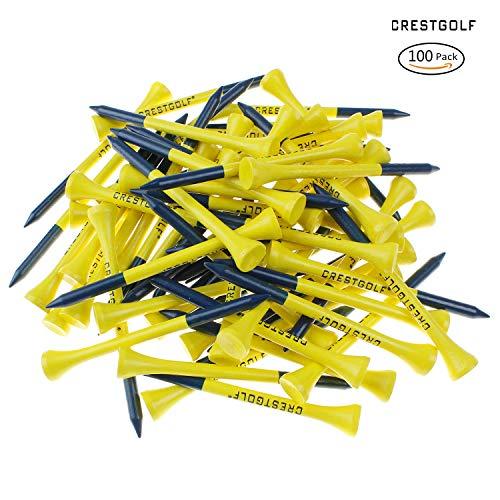 Crestgolf 3 1/10,2 cm (83 mm) Holz Golf Tee 100 Stück/Beutel