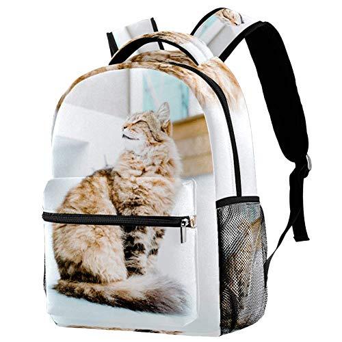TIZORAX - Mochila pastoral de pelo largo persa para el colegio, mochila de viaje, casual, para mujeres, adolescentes, niñas y niños
