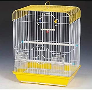 Bird cage for Budgies,Finches,Love Birds, with Cuttlefish Bone Holder and Cuttlefish Bone,-Central Fish Aquarium (Colors M...