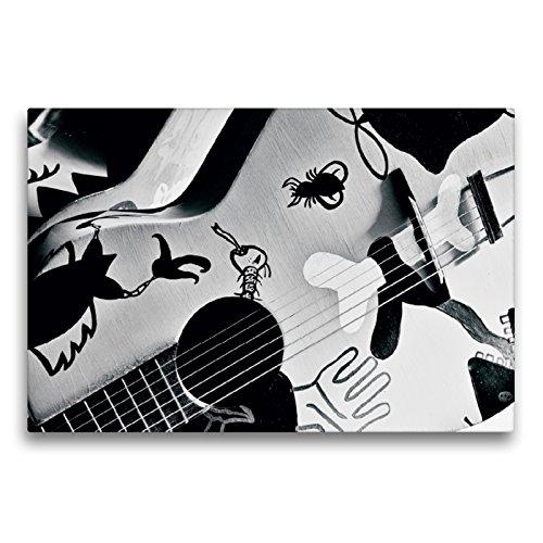 CALVENDO Premium Textil-Leinwand 75 x 50 cm Quer-Format Gitarre, Leinwanddruck von Ulrike SSK