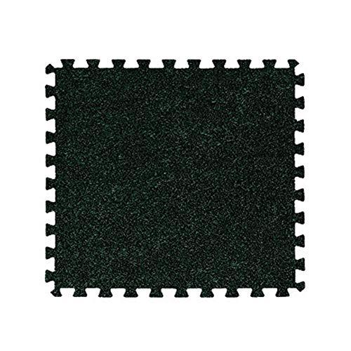 AWSAD Sol Et Bébé Velours Court Installation Facile Insonorisation Protection Environnementale Tapis De Mosaïque, 7 Couleurs Taille 3 (Color : Green, Size : 30x30x1cm(16 Tiles))