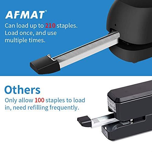 Electric Stapler Desktop, Automatic Staplers for Desk, Portable Stapler, AC or Battery Powered Heavy Duty Stapler, with Reload Reminder & Release Button, 25 Sheets Capacity, Black Photo #5