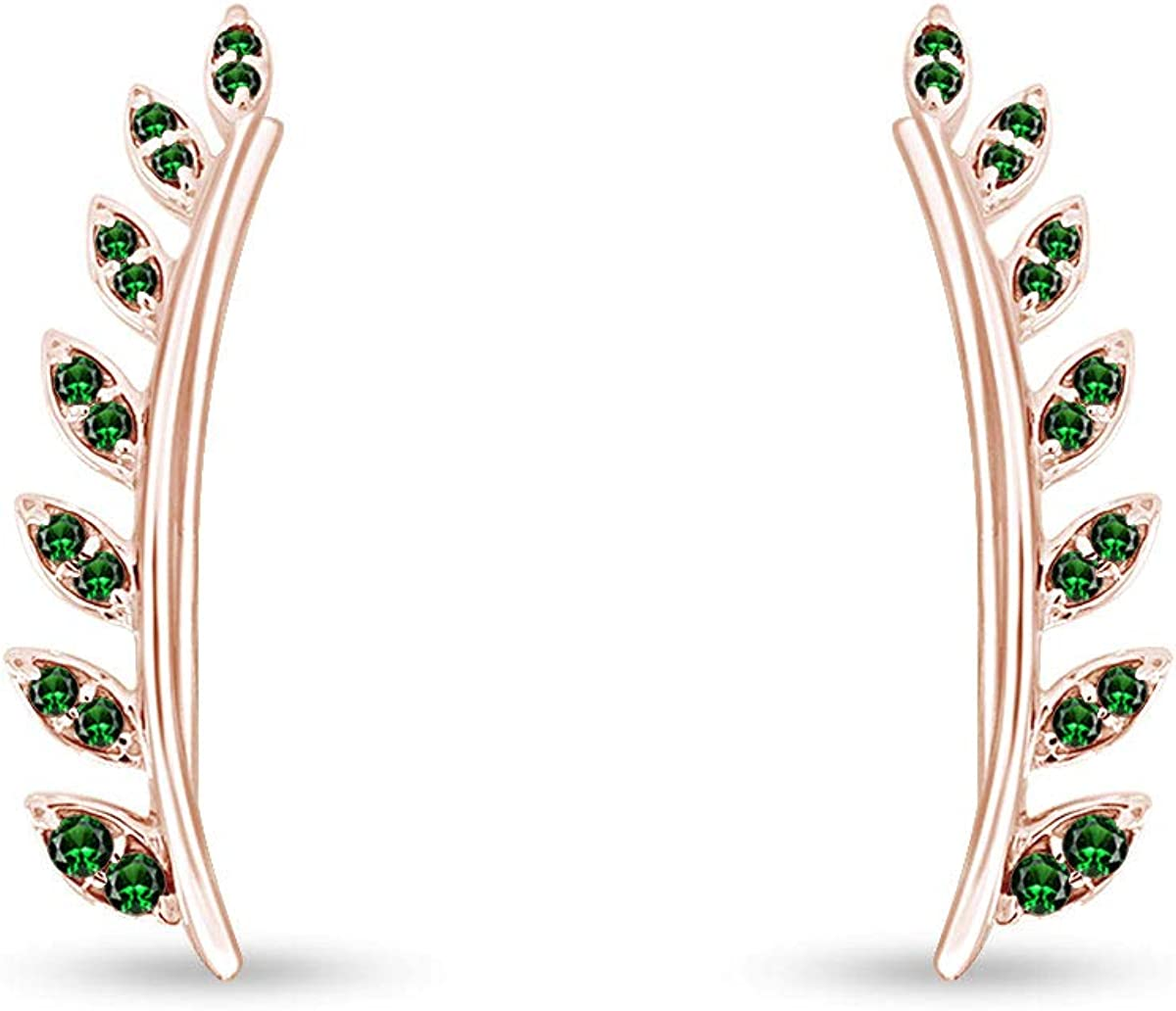 Fashionable Valentine's Day Gifts Simulated Green Emerald Ear Cuff Crawler Sale Special Price E