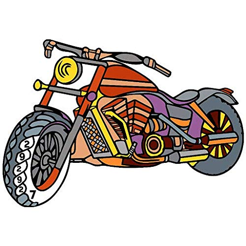 Bikes Paint by Number - Vehicles Glitter + Crayon + Coloring Pages