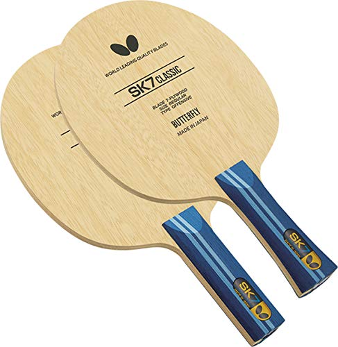 Butterfly SK7 Classic Table Tennis Blade - 7-ply All-Wood Blade - SK7 Classic Blade - Professional Table Tennis Blade - Available in FL and ST Shakehand Handle Styles - Made in Japan