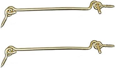 Koperen Haak en oog Klink, 2 Stks Deur Raam Kabinet Locker Klinken, Retro Gouden Deursloten, Kennel Box Sloten, 25cm