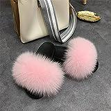 Zuecos Sanitarios Mujer Originales,Chapas para el Pelo de la harina de Primavera y de Verano, Zapatillas de Pelo Anti-Zorro Suave y cómodas, Sandalias de Ropa de Cuero, Zapatos de Playa reuniendo Zap