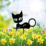 Katze Garten Dekoration Wasserdichte Wetterfeste Katze Yard Art Kleine Tierhöhle Einsatz Karten Katze Ornamente Rasen Dekoration Outdoor Sign