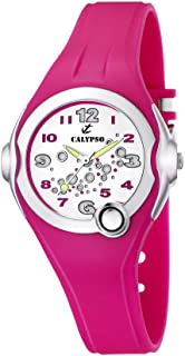 Watches - Reloj analógico de Cuarzo para niña con Correa de Caucho, Color Rosa