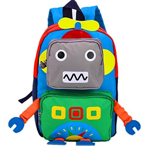 CHERUBIC Kids Toddler Cute Robot Prescool backpack cartoon travel mini bag for baby girls boys(Green Robot)