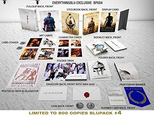 Gladiator - Exklusiv Full-Slip Steelbook Edition 4K UHD + Blu-ray (Deutscher Ton) + Cards + Poster + Banner + Coin usw - EverythingBlu Import
