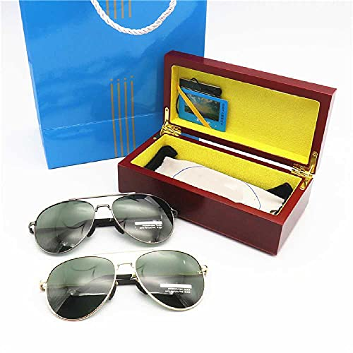 N\C Gafas de sol polarizadas aviador de gama alta caja de regalo polarizadas gafas