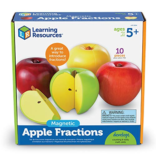 Bring fractions to life with these sectioned apple magnets