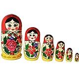 Matroschka, Matruschka, Matrjoschka, Babuschka 6-tlg.