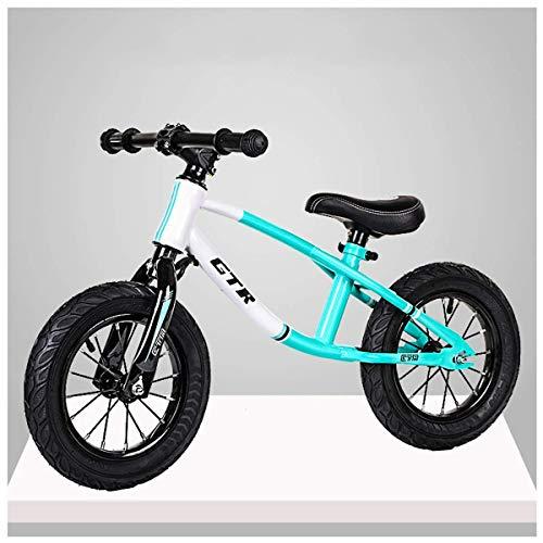 CHUTD Bicicleta de Equilibrio para niños Bicicleta de Equilibrio de Entrenamiento para niños pequeños para niños y niñas de 2 a 6 años, Incluye Ruedas inflables de 12 Pulgadas, Manillar/sillín a