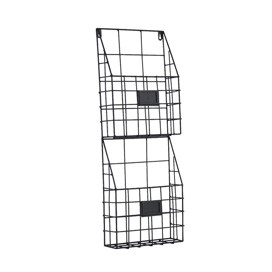 技術的な意志に反する技術的なSYF 壁掛け多機能マガジンラック|創造的な錬鉄製の本棚|シンプルな家族のリビングルームの新聞ラック|オフィスマガジンディスプレイスタンド26.5 x 8 x 71.5 cm A+ (色 : A)