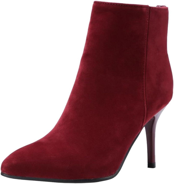 Unm Women High Heel Dress Boots Zip