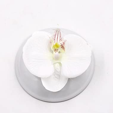 Fake Flower head Artificial Flower 8cm Silk Butterfly Orchid Head For Wedding Home Decoration DIY party festival Decor Flores