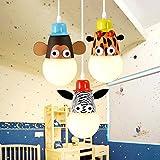 Lampara techo lampara salon techo lamparas Niños de la habitación Araña de la viruela Dormitorio creativo Dormitorio Niño Dormitorio Dormitorio LED Animales de dibujos animados Luces decorativas Fuent