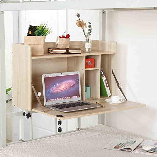 FEI Tableau d'ordinateur portable de bureau d'ordinateur pour l'installation libre de dortoir de lit d'étudiant de collège (Couleur : White maple)