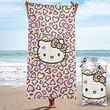 N \ A toallas de playa de gran tamaño de 31 '' x63 Premium toalla de secado rápido - Hello Kitty