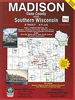 Madison, Dane County, and Southern Wisconsin Street Atlas