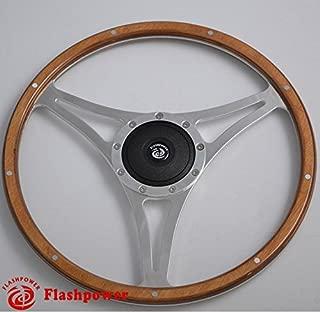 14'' Classic Riveted wooden steering wheel Restoration MG Triumph Jaguar Marine Boat