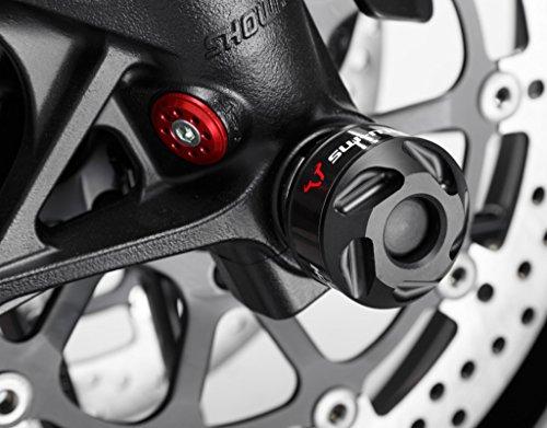 SW-MOTECH Sturzpad-Kit für Vorderacase, Schwarz für Ducati 899/959/1299 Panigale, XDiavel/S