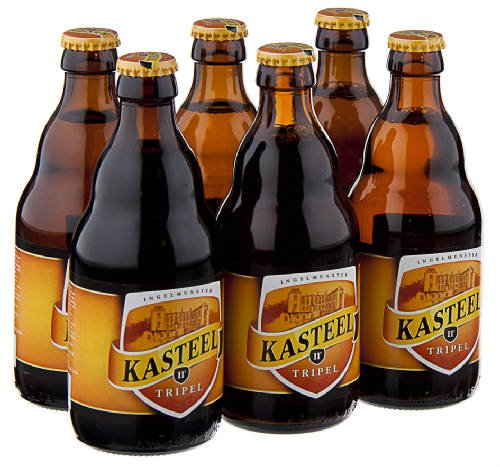 Original Belgisches Bier -Kasteel blond,BIERE DU CHATEAU Triple, 11 % vol 6x33 cl.