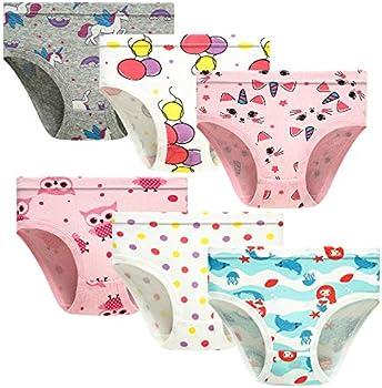 6-Pack HeyKing Little Girls Panties, Size 5T