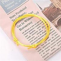 JJKEDW シンプルなブレスレットのために、女性と男性カラフルなロープチェーン手作りの調整可能ラッキーブレスレットカップルのブレスレットギフト (Metal Color : Y)