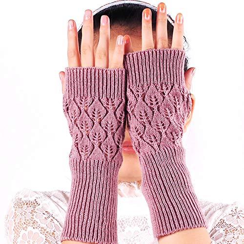 Winter Warm Fingerless Strickhandschuhe für Frauen Stretch Half Finger Arm Handschuh Häkeln Stricken Mädchen Mitten Handschuhe-4