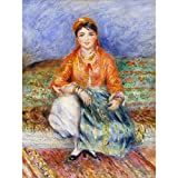 Renoir Algerian Girl Large Wall Art Print Canvas Premium