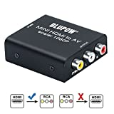 BLUPOW HDMI コンポジット変換 hdmi rca 変換 1080P対応 hdmi av 変換 hdmi コンポジット コンバーター デジタル アナログ 変換器 PS3・PS4・XBOX・TVBOX・Blu-ray Player・PCなど対応 hdm to rca VA510