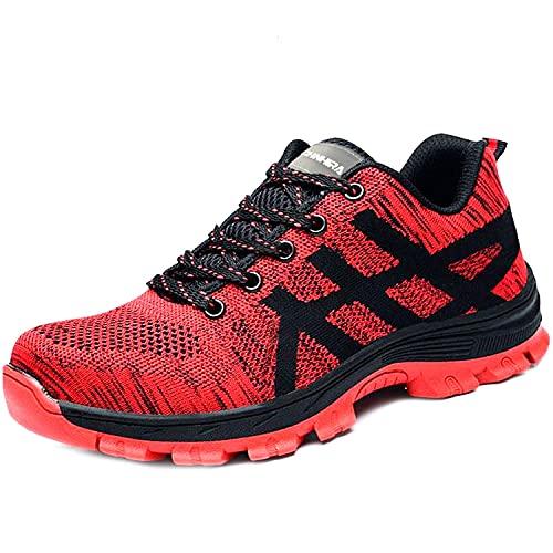 Zapatos de Seguridad para Hombre Mujer S1P Zapatillas Zapatos de Trabajo con Punta de Acero