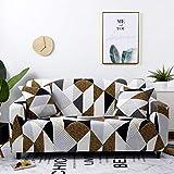 WXQY Funda de sofá elástica Funda de sofá, Funda de sofá de Sala de Estar Moderna, Funda de protección de Silla en Forma de L de Esquina, Funda de sofá A18 de 3 plazas