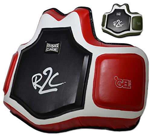 Ring to Cage Ultima GelTech Body/Trainers Protective Vest (Black/Red)