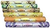 Surtido Mix Inciensos Aromáticos | Incienso Natural Aromaterapia | Caja 6 Paquetes de 20 Unidades c.u. | Gran Duración Aroma Delicado