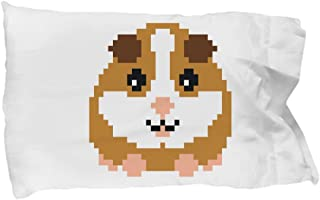 HighSpectrum Retro Pixel Guinea Pig Pillow Case Gamer Gift Video Gaming Boys Girls